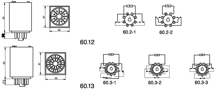 60 12 60 13 general purpose relay