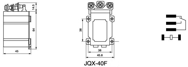 JQX-40F 30A Power Relay