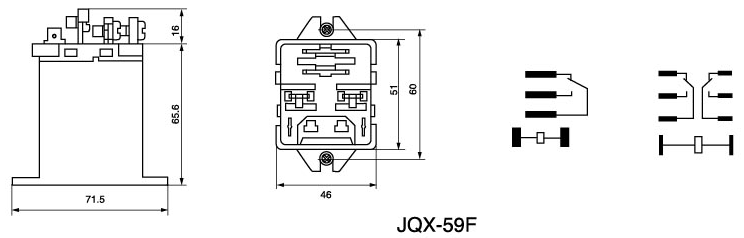 JQX-59F Power Relay
