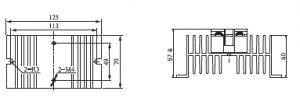HHS-061 Heat Sink